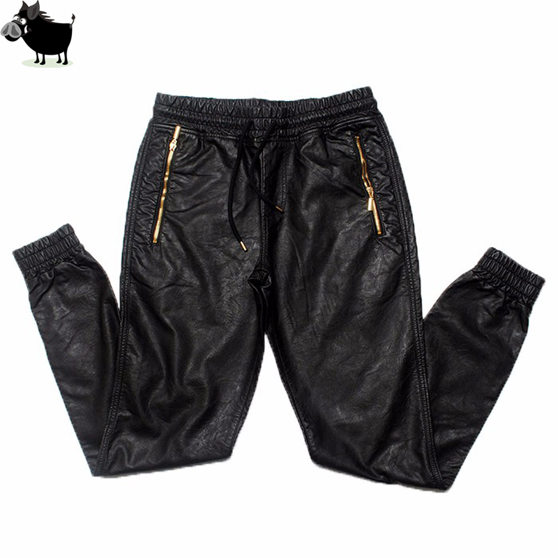 Man Si Tun New Kanye West Hip Hop Big And Tall Fashion Zippers Jogers Pant Joggers Dance Urban Clothing Mens Faux Leather Pants
