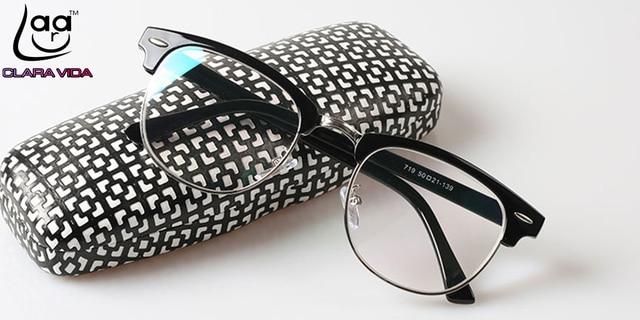 VIDA CLARA Sobrancelha Armações de óculos de Leitura projeto Rebite não  esféricas lente Revestida c44cf4e4d0