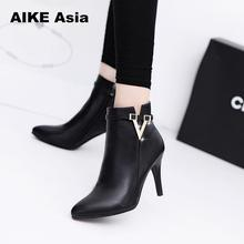 2019 Spring Autumn Stiletto Thin High Heels Pointed Toe Faux