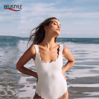 f9801be734 BFUSTYLE Wave Cut Swimwear Backless Swimming Suit Women One Piece Swim Suit  Sexy Push Up With
