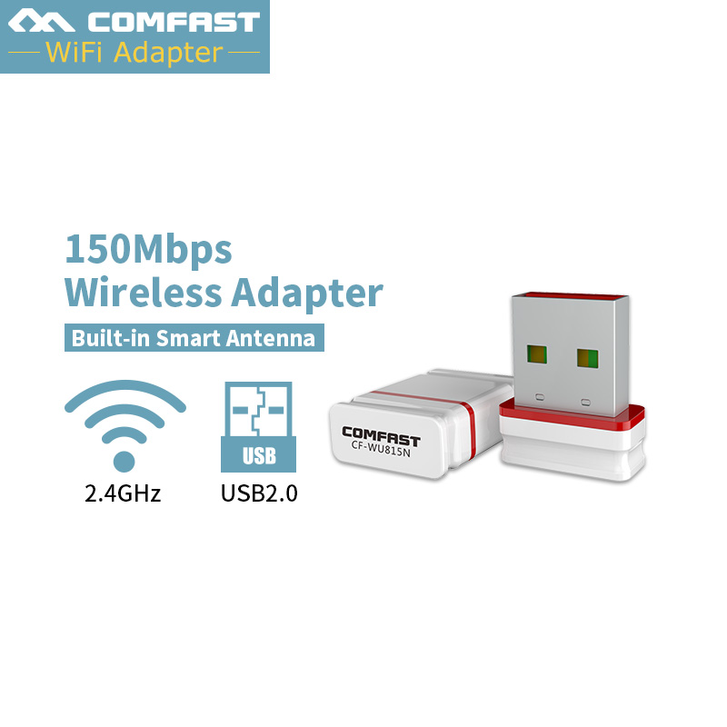 COMFAST 150Mbps Mini Wifi Adapter Free Driver Usb USB PC Network Card Soft AP Router Function Wifi Receiver/transmiter CF-WU815N