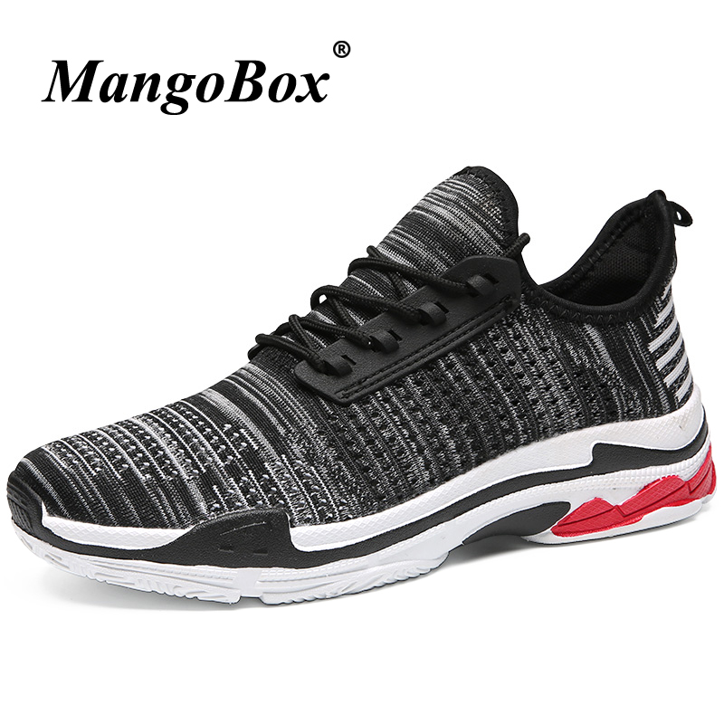 Man Running Shoes Black Red Jogging Shoes Men Spring Summer Man Sneakers for Sport Rubber Bottom Anti-slip Outdoor Footwear