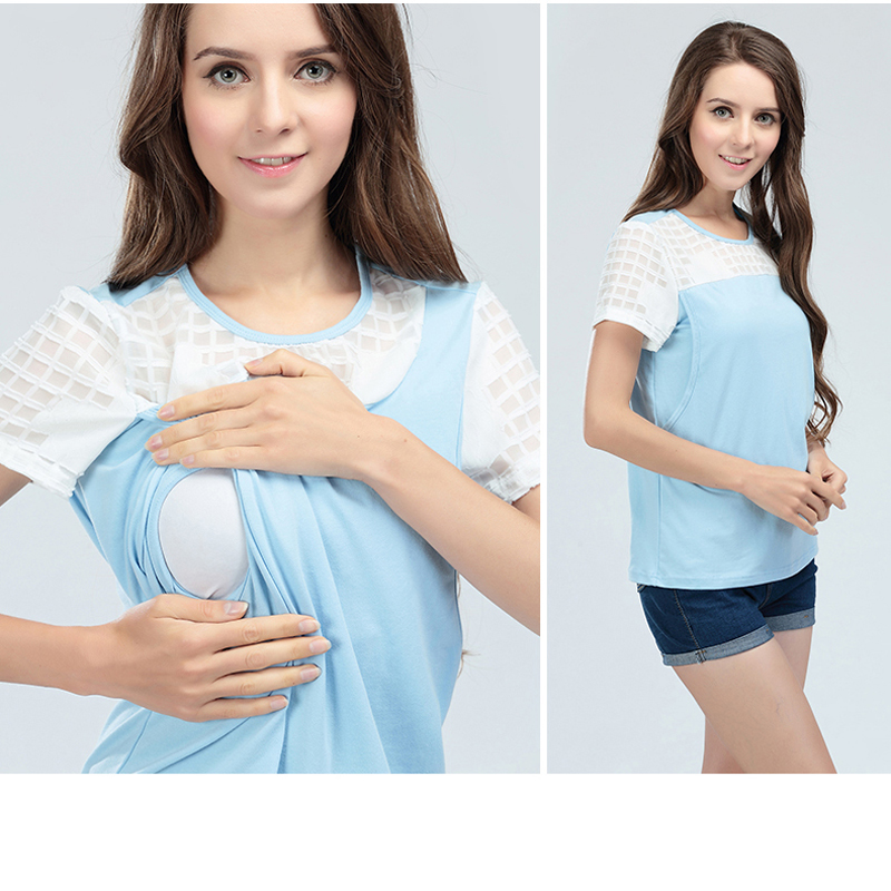 Emotion Moms summer Short sleeve Maternity Nursing Clothes nursing top breastfeeding tops for Pregnant Women maternity T shirt in Blouses Shirts from Mother Kids