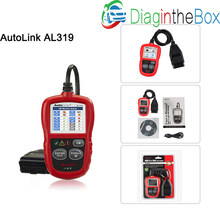 Autel AutoLink AL319 Auto Diagnostic Scan Tool/Code Reader Turn off MIL/Patented One-Click I/M Readiness Key/Reset Monitors etc.(China)
