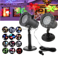 Christmas Laser Waterproof Outdoor LED Stage Lights 12 Types Holiday Decoration Snowflake Projector Lamp Home Garden