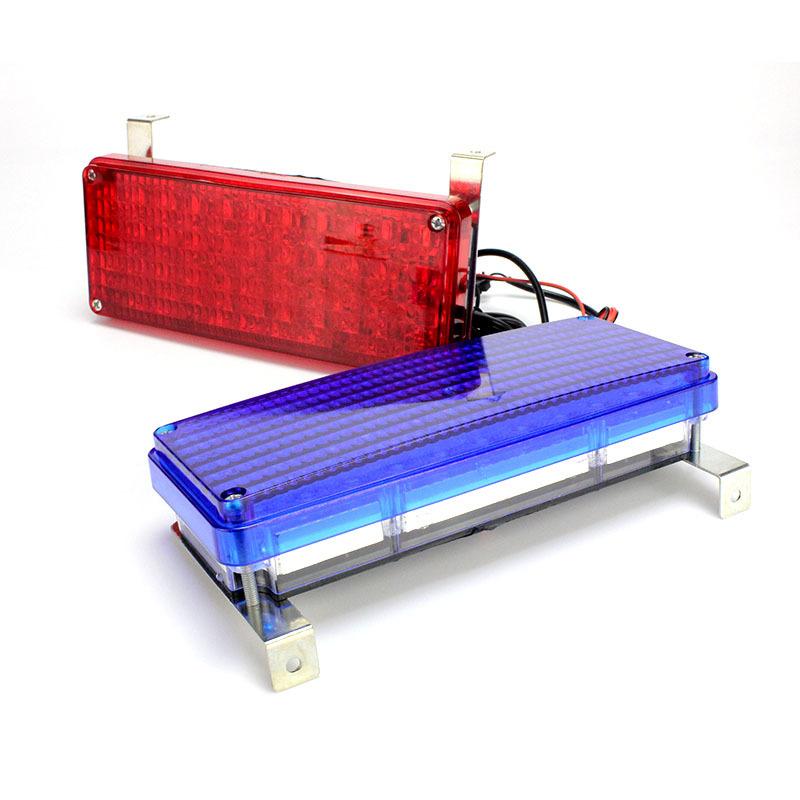 camin motocicleta luz de advertencia barra de luz led rojo azul led polica barra parachoques luz