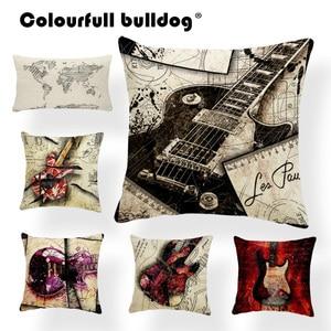 Guitar Cushion Cover Pillow Ca