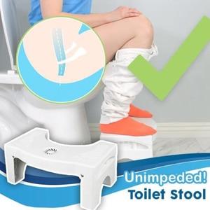 Image 3 - Home Folding Squatting Stool Bathroom Squat Toilet Stool Compact Squatty Potty Stool Portable Step Seat for Home Bathroom Toilet