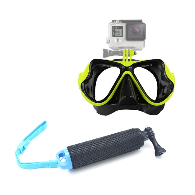 For Gopro Hero 5 4 Hken H9 SJ4000 Accessories Floating Handle Bobber Mount Handheld Diving Mask for Xiaomi Yi Action Camera