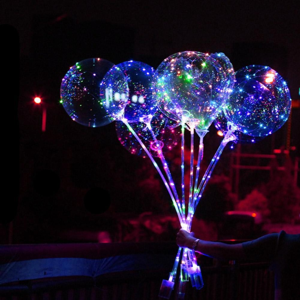 Globos Led balloons Party decoration Accessories Transparent Wave Glowing Color orbs air Lantern baloon Star Light Wave Balls