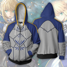 Anime Fate/Altria Pendragon Cosplay Costumes Zipper Hoodies Sweatshirts 3D Printing Unisex Adult man/women Clothing
