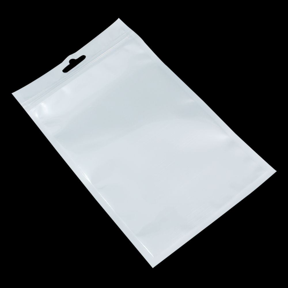 12 18cm White Clear Self Seal Reclosable Zipper Plastic Retail Packaging Bag Ziplock Zip Lock Bag