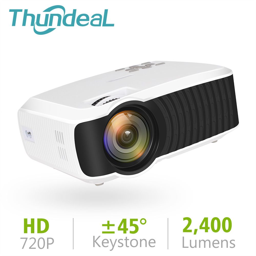 ThundeaL T23K Mini Projector 2400 Lumens 1280*720 Portable Video LCD HD Beamer HDMI VGA USB Home Theater Optional T22 Projector weshow v3 200lm 1280 x 800 rgb 3 color dlp hd mini 3d home projector w hdmi usb audio silver