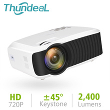 ThundeaL T23K Mini-projector 2400 lumen 1280 * 720 draagbare video-lcd HD Beamer HDMI VGA USB-home cinema Optionele T22-projector
