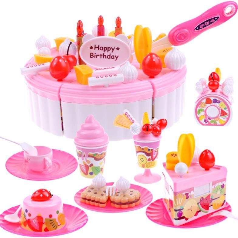 Children Play Toys Kids Birthday Gifts Cake Cut Creative Assembling