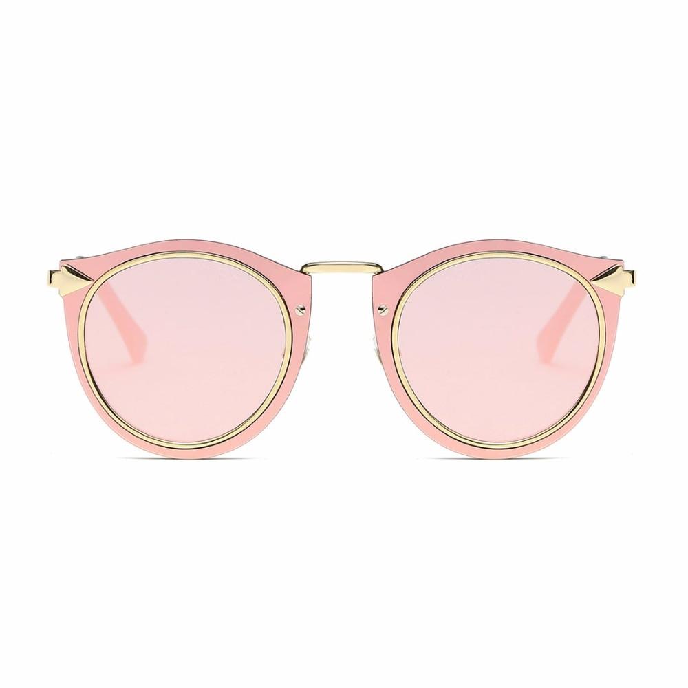 AEVOGUE Solglasögon Kvinnor Metallram Classic Retro Pilar Dekorerad - Kläder tillbehör - Foto 2