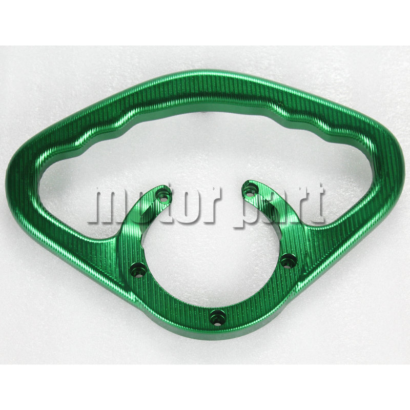 Motorcycle CNC Aluminium Rear Passenger Handle Bar Fuel Gas Tank Grab Grip Handrails For Kawasaki Ninja ZX6R Z1000 Z800 Green for 2002 2005 kawasaki ninja zx9r zx 9r motorcycle rear passenger seat cover cowl black 01 02 03 04 05