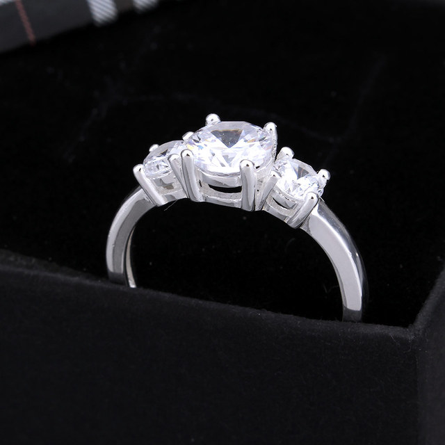 be3b78c96ee0 kiss me Fashion 925 Sterling Silver Ring Wedding Finger Rings Engagement  bague CZ Zircon for Women