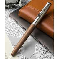 Pluma estilográfica de madera clásica remasterizada 0,38mm pluma de caligrafía extra fina Jinhao 51A suministros escolares de oficina A6994