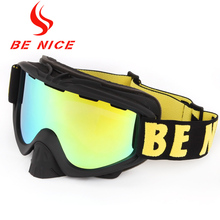 BE NICE snowboards high coverage cylindrical snow glasses outdoor ski goggles snowboard goggles anti fog for adlut 3000