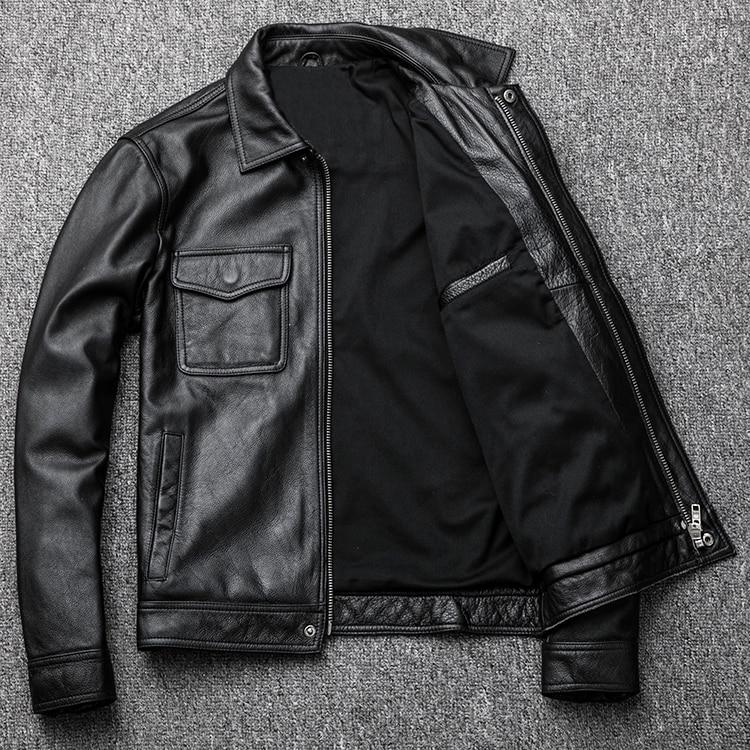 HTB1GtzSXjzuK1Rjy0Fpq6yEpFXaO MAPLESTEED Brand Vintage Leather Jacket Men 100% Cowhide Red Brown Black Natural Leather Jackets Men's Leather Coat Autumn M174