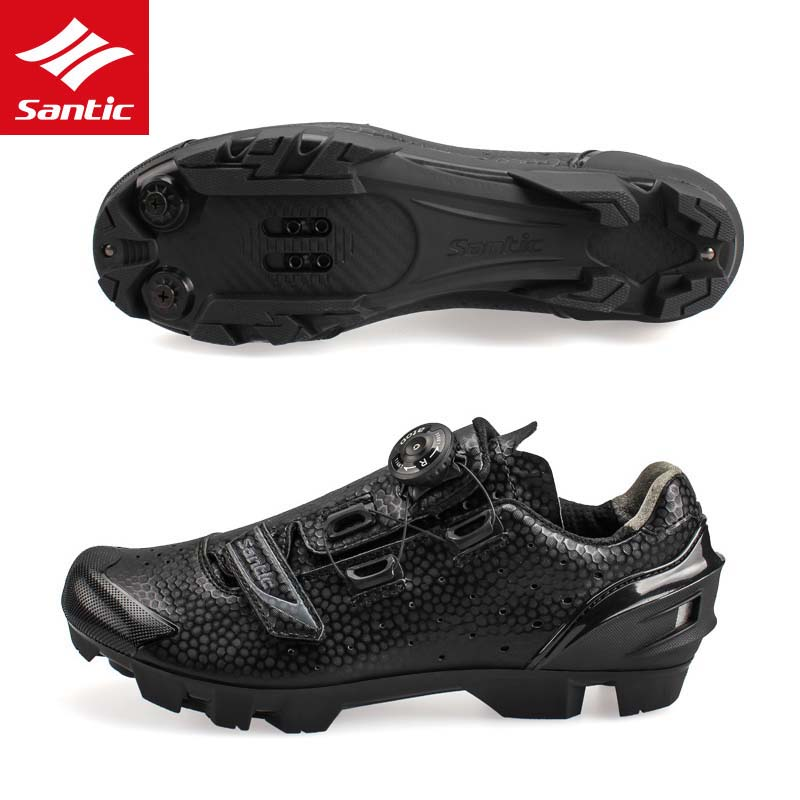 Santic 2018 Brand Cycling Shoes Men MTB Bicycle Shoes Athletic Self-locking Zapatillas Ciclismo Sneakers Mountain Bike Shoes 2017brand sport mesh men running shoes athletic sneakers air breath increased within zapatillas deportivas trainers couple shoes