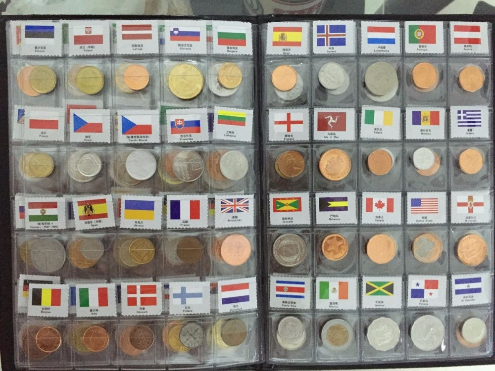 120 Countries Coins the most value for coin Set Fine Coin 100% Original Genuine with name and flag-in Non-currency Coins from Home & Garden    2