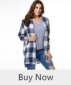 Women-Shirt-Blouse-Blue-Plaid-Long-Sleeve-Chest-Pocket-Turn-Down-Collar-Loose-Casual-Boyfriend-Split