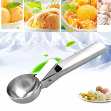 New Stainless Steel Ice Cream Scoop Fruit Ice Ball Maker Candy Bar Accessorizes Ice Cream Spoon Kitchen Gadgets все цены