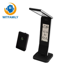 Cheaper Foldable LED Table Lamp Alarm Clock Calendar Indoor and Outdoor Thermometer Clock Creative Bedroom Eye Protection Desk Lamp New