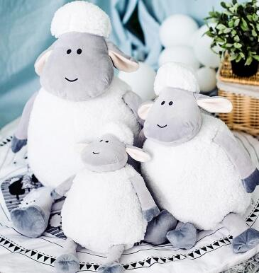Candice guo plush toy stuffed doll cartoon animal little sheep cute lamb soft pillow cushion birthday gift Christmas present 1pc hot sale 1pc 35 15cm cartoon smile naughty pig plush doll hold pillow animal stuffed toy children birthday gift free shipping