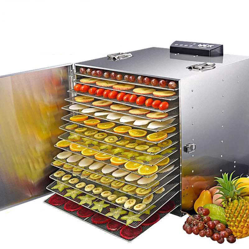 30 Layer Commercial Professional Fruit Food Dryer Stainless Steel Food Fruit Vegetable Pet Meat Air Dryer Electric Dehydrator