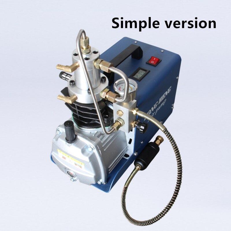 Pompe à Air à haute pression de compresseur d'air électrique de 300BAR 30MPA 4500PSI pour le gonfleur pneumatique de PCP de fusil de plongée d'airgun 220v 110v - 4