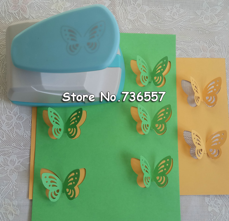 Free Shipping Large Size 4.3cm Stereoscopic 3D Butterfly Shape Punch Craft Scrapbook Paper Puncher Child DIY Tools Hole Punches