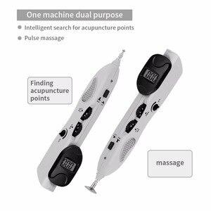 Image 5 - Digital dispositivo de pulso de acupuntura elétrica caneta massagem ativar articulações meridiano alívio da dor ponteiro detector meridiano energia caneta
