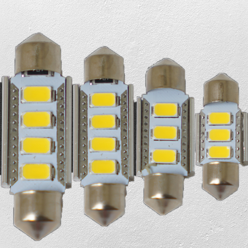 4pcs Warm White Canbus C5W 31mm 36mm 39mm 41mm 3 4-5730-SMD LED Festoon Bulbs Car Interior Map Dome License Plate Light Bulbs cawanerl car canbus led package kit 2835 smd white interior dome map cargo license plate light for audi tt tts 8j 2007 2012