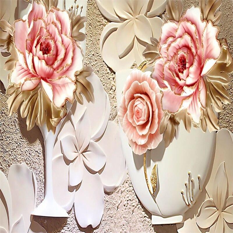 Grandes fleurs personnalisées de luxe 3D rideaux de fenêtre occultants rideaux pour salon chambre hôtel mur tapisserie Cortinas