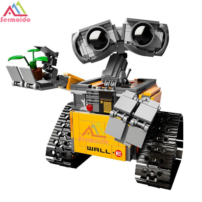 Decool 16003 Ideas Robot Wall-E Building Assembling Blocks Bricks Educational Kid`s Toys Compatible with 21303 little white dragon assembling toys educational toys girl fantasy girls beach villa 423
