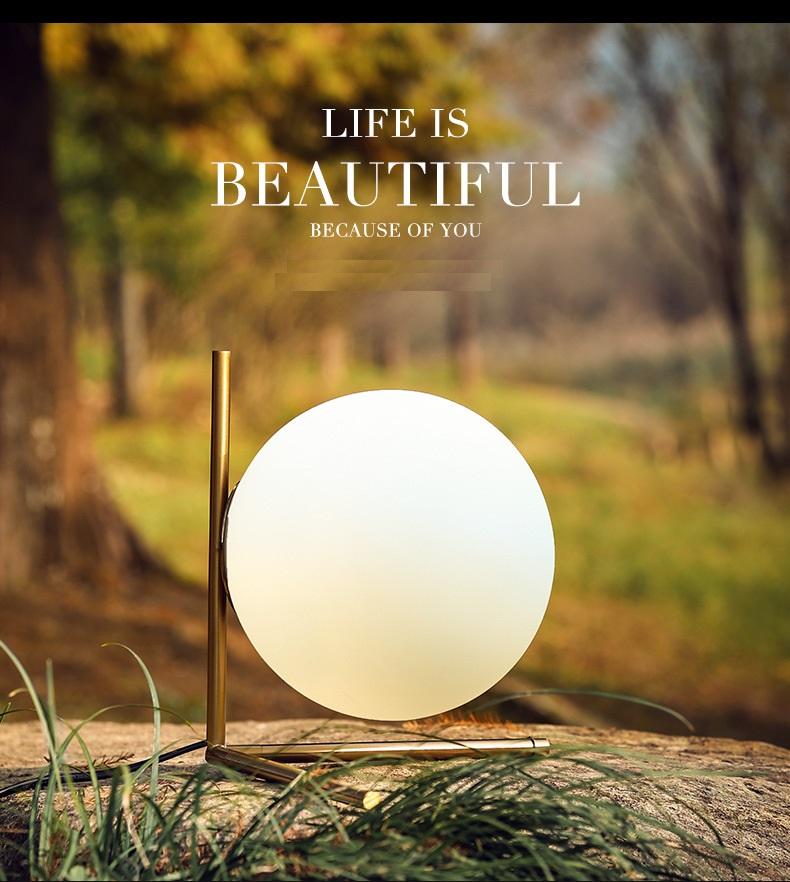 Modern LED Table Lamp Desk Lamp Light Shade Glass Ball Table Lamp Desk Light for Bedroom Living Room Floor Conner Gold Designs (24)