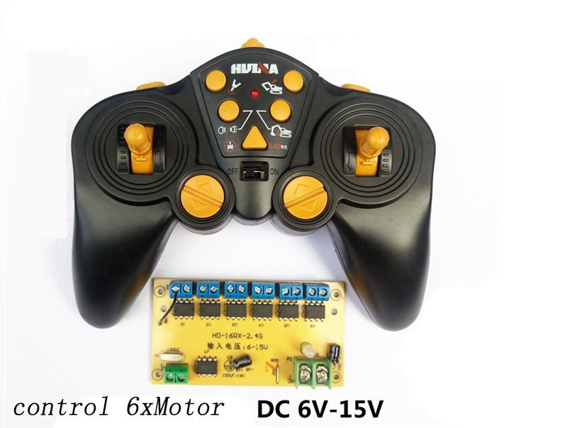 16 Channel 2.4G Remote Control+Receiver Board High-power Control Panel 6-15V Controller DIY for RC Car/Ship/Tank/Excavator 16 Channel 2.4G Remote Control+Receiver Board High-power Control Panel 6-15V Controller DIY for RC Car/Ship/Tank/Excavator