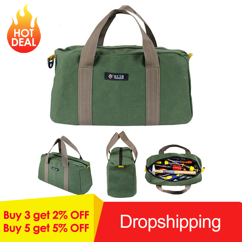 Waterproof Canvas Storage Hand Tool Bag Wrenches Screwdrivers Pliers Metal Hardware Parts Storage Bags Organizer Pouch Bag CaseWaterproof Canvas Storage Hand Tool Bag Wrenches Screwdrivers Pliers Metal Hardware Parts Storage Bags Organizer Pouch Bag Case