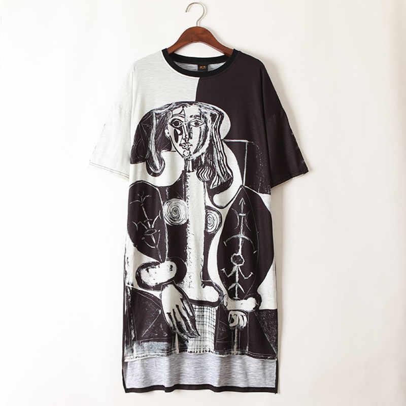 Jsut. be. never/черно-белые футболки с графическим принтом в стиле хип-хоп, длинная футболка для женщин, плюс топы, 80 в стиле панк, футболка для девочек, летние топы с аниме