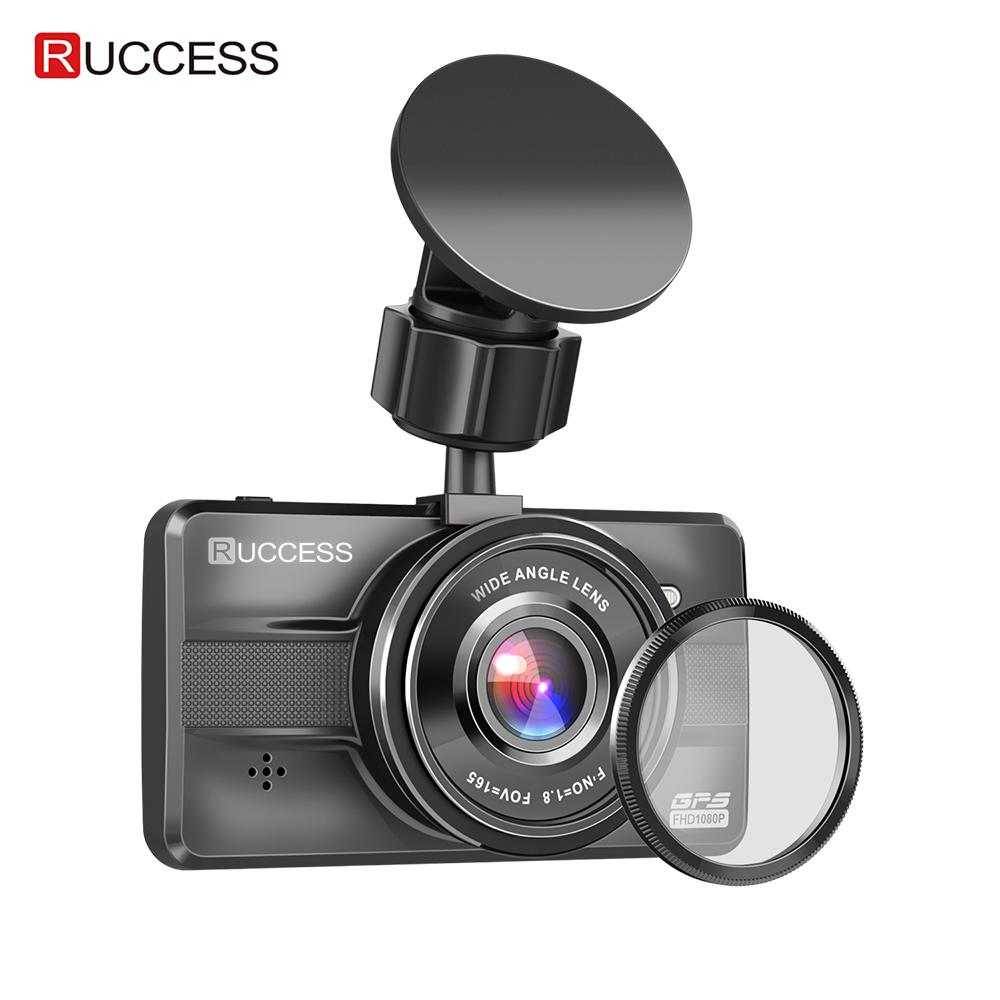 Ruccess Full HD 1080P CAR DVR 3 0 IPS Dash Cam with GPS CPL Car Camera