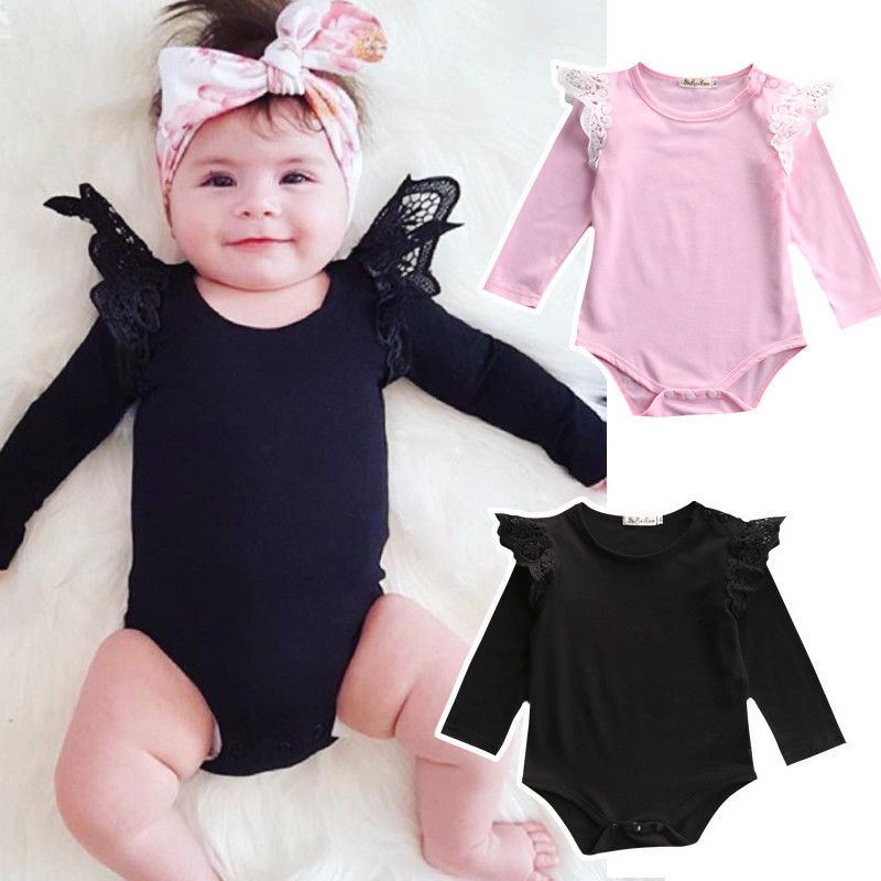 One-Pieces Newborn Kids Infant Baby Girl Clothes Lace   Romper   Jumpsuit Outfit