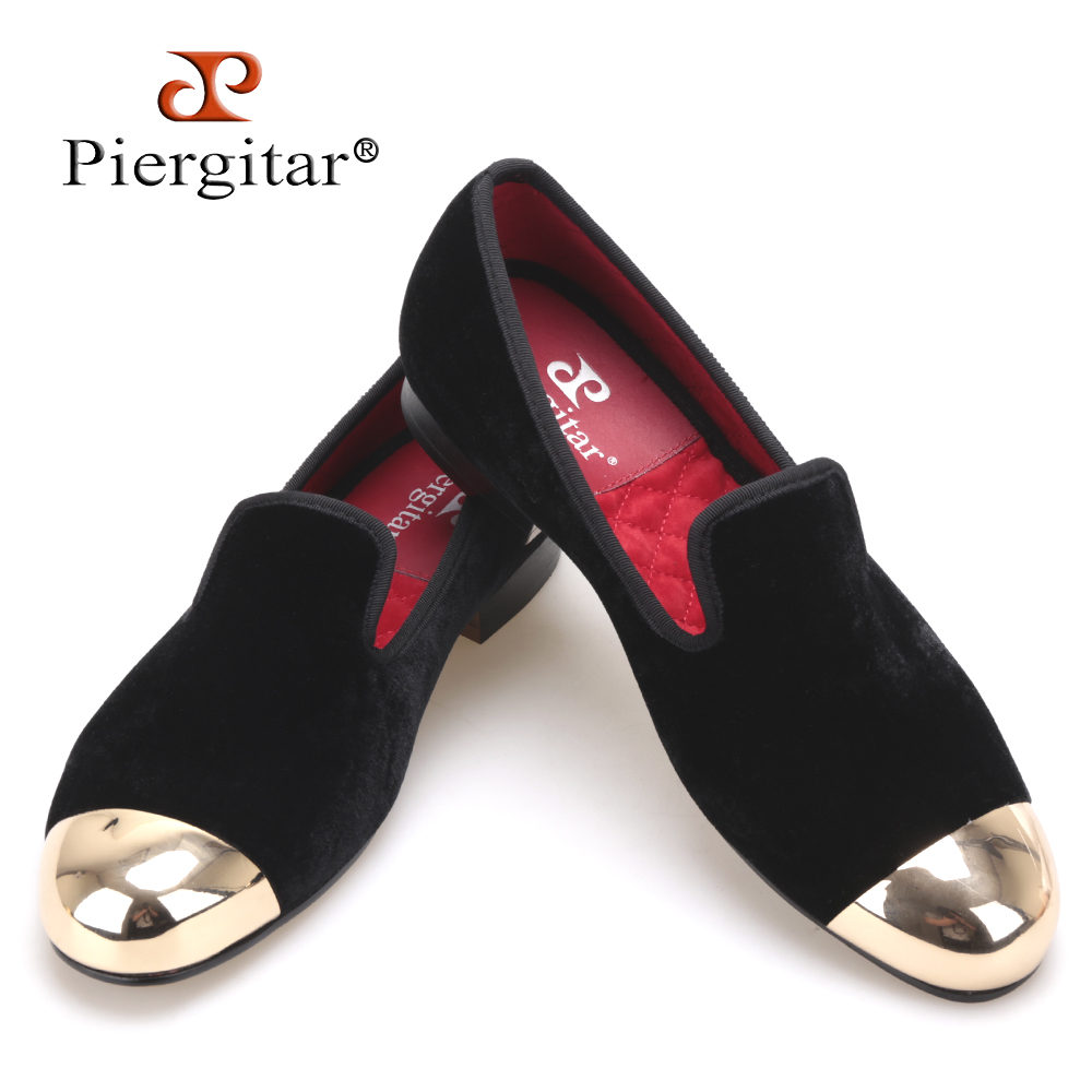 Plus Size Men Shoes New Metal toe Men Black Velvet smoking slipper male prom and banquet loafers men's flats SIZE US 4-17 flower lattice velvet fabric men shoes men smoking slipper prom and banquet male loafers men flats size us 4 17 free shipping
