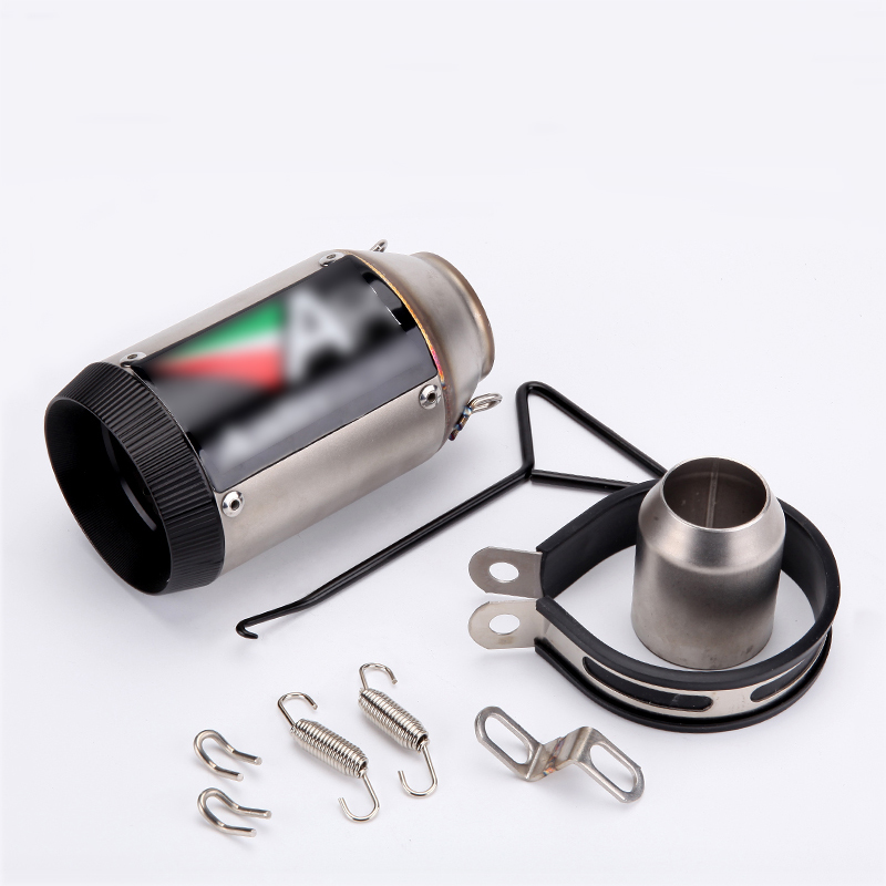 38-51mm Motorcycle Short Exhaust Muffler Pipe Silencer