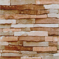 Vintage personality stone culture stone orange red shale brick wall stickers self adhesive home furniture renovation wallpaper
