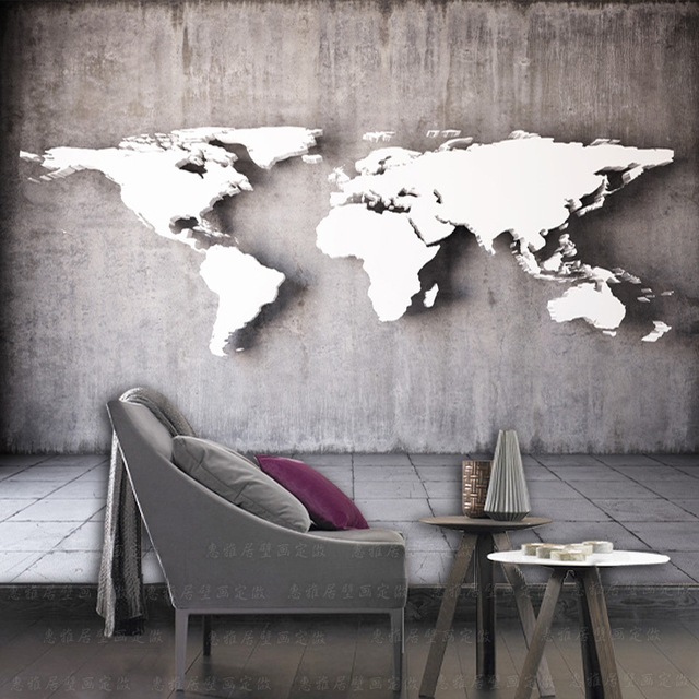 Aliexpress Buy Vintage 3d three dimensional world map mural – Map World Mural