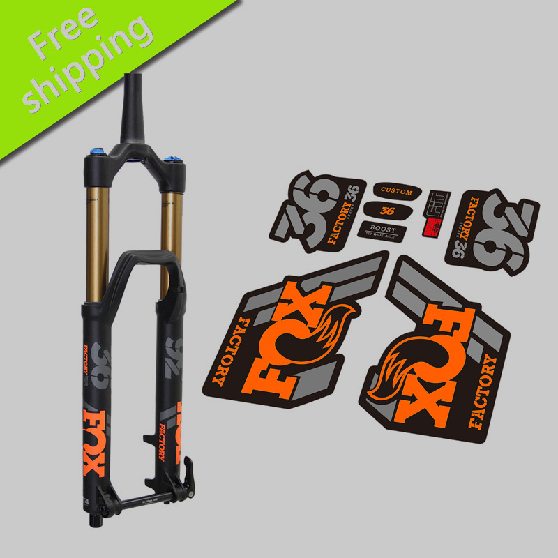 US $12 83 5% OFF 2018 2019 FOX Factory 36 Fork Stickers for mountain bike  bicycle FOX 36 front fork replacment race dirt decals-in Bicycle Stickers
