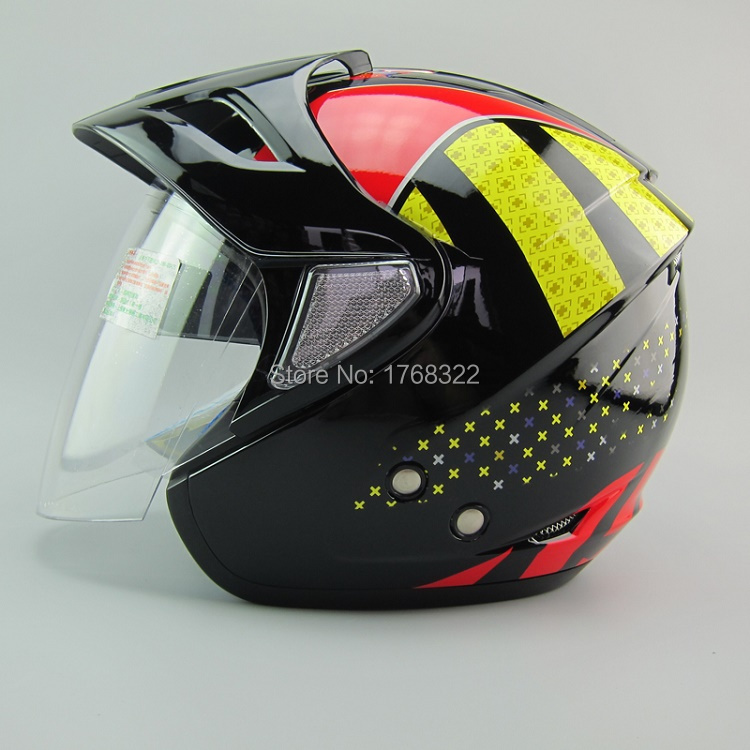 2015NEW arrival Open face 3/4 motorcycle Casco Capacete helmet, Jet Vintage retro helmet, outer& inner visor,DOT, Free shipping free shipping 2015 new flip up motorcycle helmet double lens inner sun visor dot approved casco capacete